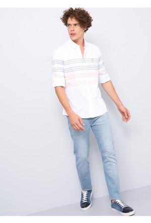 U.S. Polo Assn. Erkek Mace Gömlek Beyaz