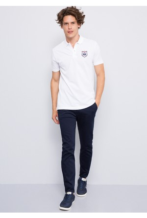 U.S. Polo Assn. Erkek Chelsea T-Shirt Beyaz