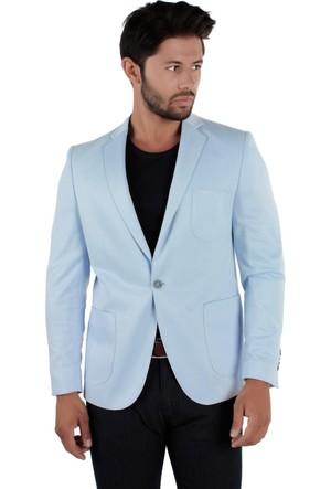 Brango 30069-4 Desenli Spor Buz Mavi Ceket