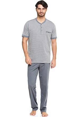 Çift Kaplan 8018 Marin Erkek Pijama Takım