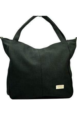 İntenin Siyah Omuzdan Askılı Büyük Kullanışlı Çanta