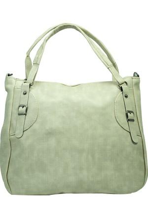 İntenin Kemer Detaylı Beyaz Bavul Tipi Büyük Çanta