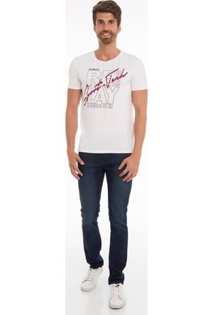 Collezione Erkek T-Shirt Kısa Kol Jakuarte Beyaz