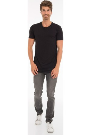 Collezione Erkek T-Shirt Kısa Kol Pika Siyah