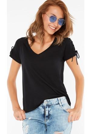 FullaModa Omuz Detaylı T-Shirt 17YBEBEPLUS0011