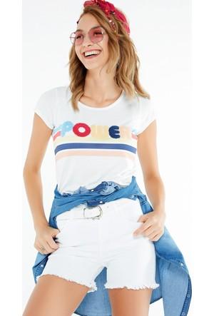 FullaModa Nakışlı T-Shirt 17YDVN0018
