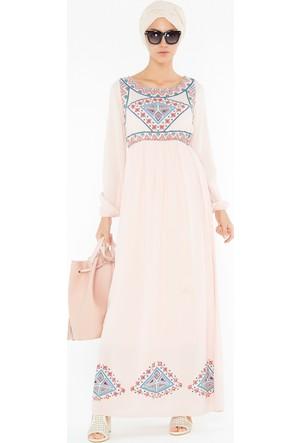 FullaModa Baskılı Elbise 17YROBİN0008