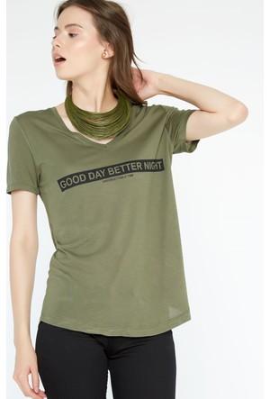 FullaModa Baskılı T-Shirt 17YSPR0001