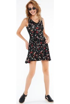 FullaModa Desenli Elbise 17YTURKUVAZ0023