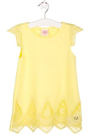 Tuc Tuc Kız Çocuk T-shirt Sunglasses Sarı