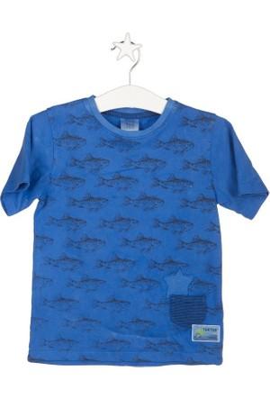 Tuc Tuc Erkek Çocuk Balık Desenli T-shirt Blue Coast Azul Lacivert Desenli