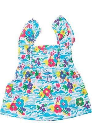Tuc Tuc Askılı Çiçek Desenli T-shirt Isla Bonita Mavi Desenli