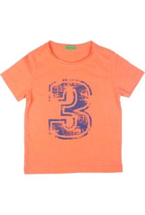 Karamela Erkek Çocuk T-shirt 3 Baskı Oranj