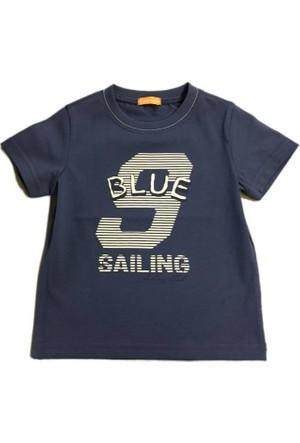 Karamela Erkek Çocuk T-shirt-Yelken İndigo