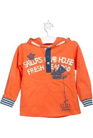 Tuc Tuc Erkek Çocuk Sweatshirt Fishing Trip Oranj