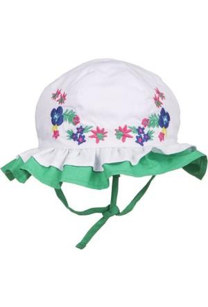 Tuc Tuc Kız Çocuk Şapka Isla Bonita Beyaz - Yeşil