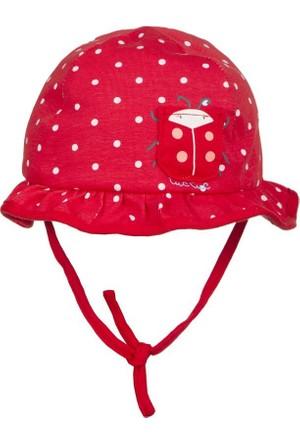 Tuc Tuc Puanlı Kız Çocuk Şapka Bugs Kırmızı Puanlı