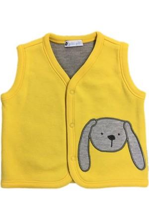 O Piti Piti Bebek Yeleği Köpek Nakışlı Sarı
