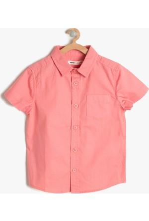 Koton Erkek Çocuk Cep Detaylı Gömlek Pembe