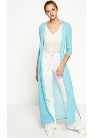 Koton Kadın Düz Kimono Mavi