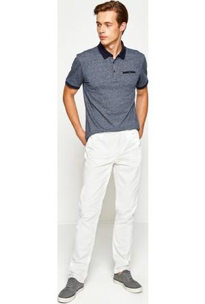 Koton Erkek Dar Kesim Pantolon Beyaz