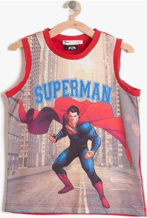 Koton Erkek Çocuk Superman Baskılı Atlet Kırmızı