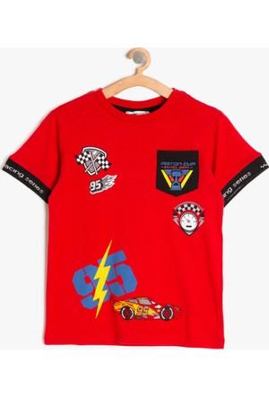 Koton Erkek Çocuk Arabalar Baskılı T-Shirt Kırmızı