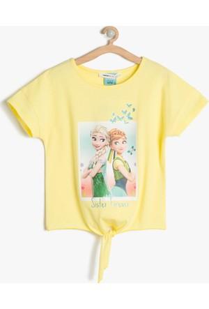 Koton Kız Çocuk Frozen Baskılı T-Shirt Sarı