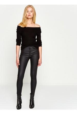 Koton Kadın Dar Kesim Pantolon Siyah