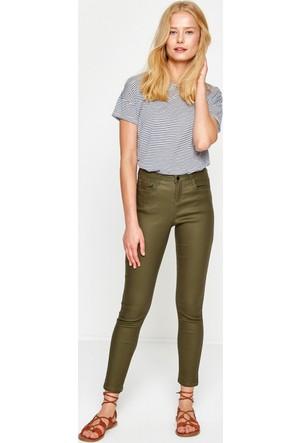 Koton Kadın Dar Kesim Pantolon Yeşil