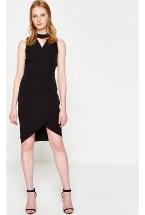 Koton Kadın Düz Elbise Siyah