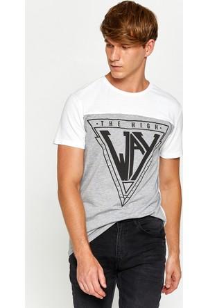 Koton Erkek Baskılı T-Shirt Beyaz