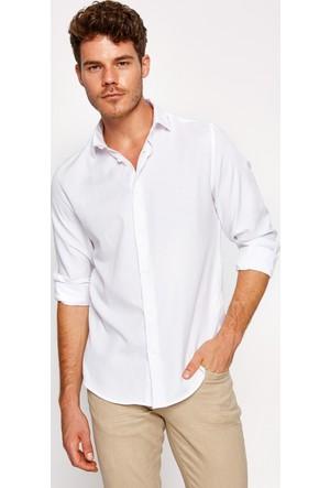 Koton Erkek Klasik Yaka Gömlek Beyaz