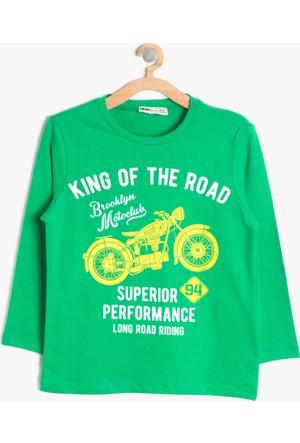 Koton Erkek Çocuk Yazılı Baskıılı T-Shirt Yeşil