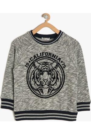 Koton Erkek Çocuk Baskılı Sweatshirt Gri