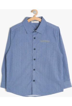 Koton Erkek Çocuk Cep Detaylı Gömlek Mavi