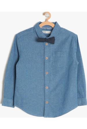 Koton Erkek Çocuk Papyon Detaylı Gömlek Mavi