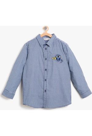 Koton Erkek Çocuk Kareli Gömlek Mavi