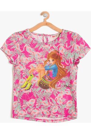 Koton Kız Çocuk Winx Club Baskılı T-Shirt Pembe