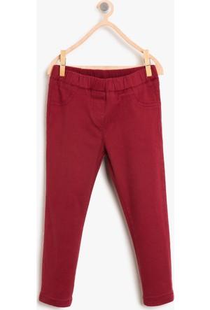 Koton Kız Çocuk Normal Bel Pantolon Bordo