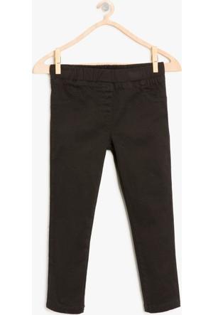 Koton Kız Çocuk Normal Bel Pantolon Siyah