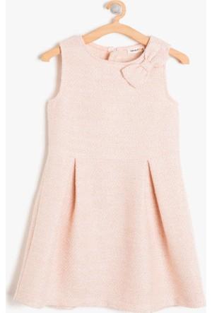 Koton Kız Çocuk Fiyonk Detaylı Elbise Pembe