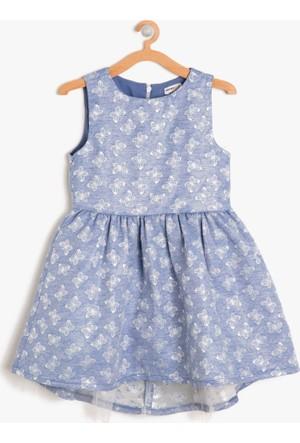 Koton Kız Çocuk Hayvan Figürlü Elbise Lacivert