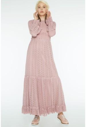 FullaModa Kadın Dantelli Elbise 17YLRN0014