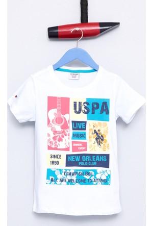 U.S. Polo Assn. Erkek Çocuk Bodi T-Shirt Beyaz