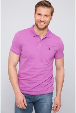 U.S. Polo Assn. Erkek Gtp04İy7 Polo T-Shirt Pembe