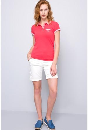 U.S. Polo Assn. Kadın Gloria-Iy07 Polo T-Shirt Pembe
