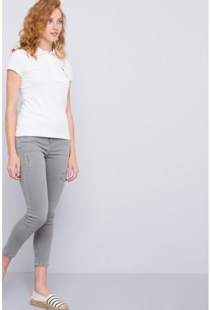 U.S. Polo Assn. Kadın T-Shirt Gtp-İy07 Bej