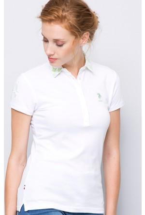 U.S. Polo Assn. Kadın Sd01İy07-011 Polo T-Shirt Beyaz