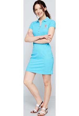 U.S. Polo Assn. Kadın Mts02İy07-075 Elbise Turkuaz